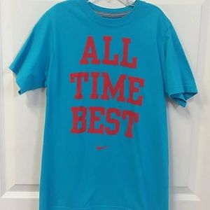 "Boys ""All Time Best"" Nike tee size M"